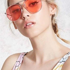 Accessories - Tinted aviator sunglasses pink
